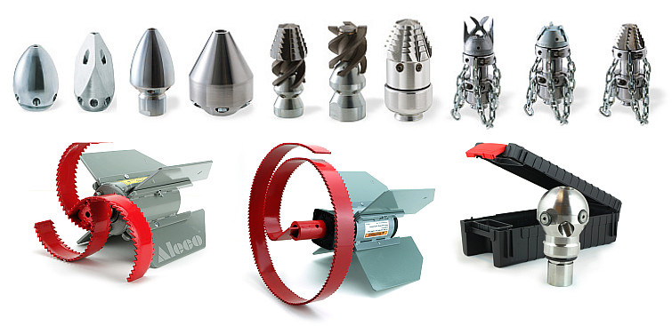 Nozzles for sewer cleaning